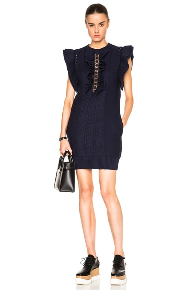 Stella McCartney Broderie Anglaise Dress in Midnight