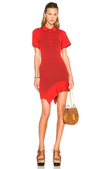 Stella McCartney Cut Out Dress in Chili Red & Berry
