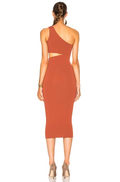 One Shoulder Cut Out Dress