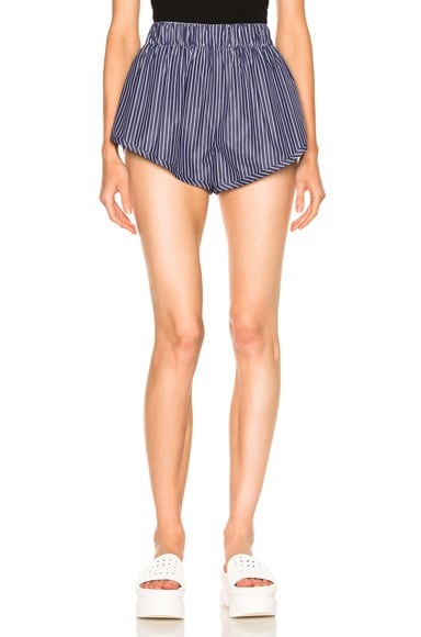Stella McCartney Stripe Shirting Shorts in Ink