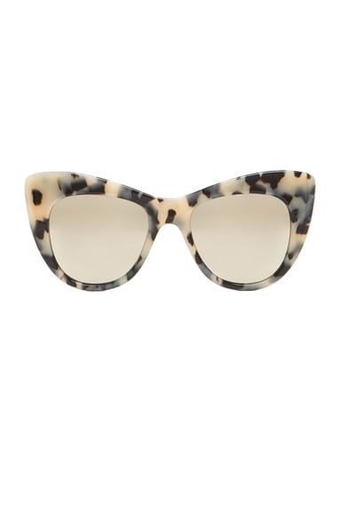Stella McCartney Mirror Oversized Cateye in Grey Spotty Tortoise