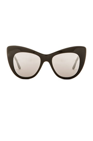 Stella McCartney Oversized Cat Eye Sunglasses in Grey & Silver Mirror