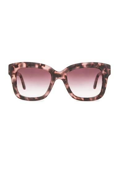 Stella McCartney Square Sunglasses in Pink Havana