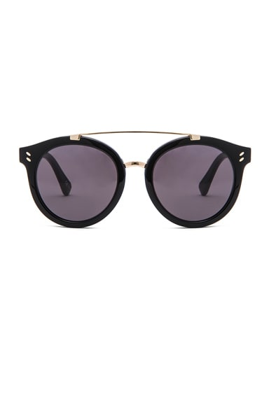 Stella McCartney Pantos Frame Sunglasses in Black & Gold
