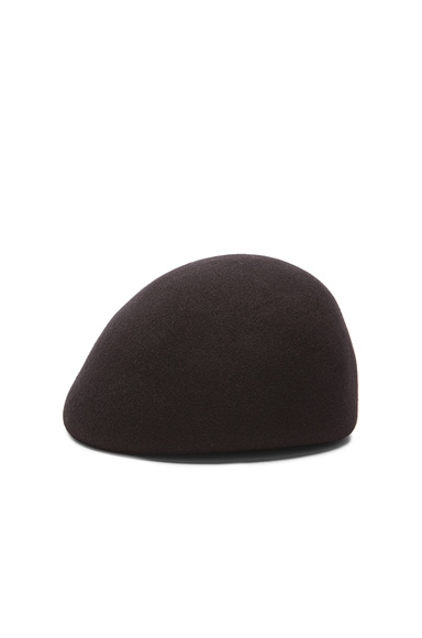 Stella McCartney Wool Beret in Black
