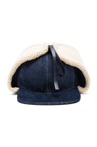 Stella McCartney Denim Hat in Blue