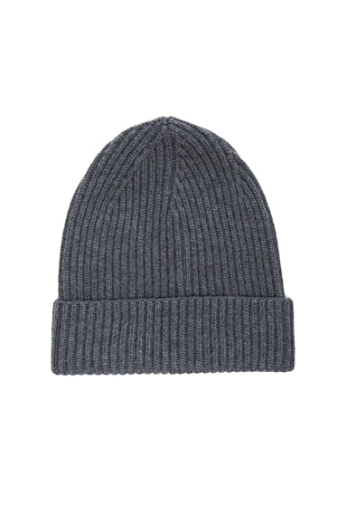 Stella McCartney Virgin Wool Frills Hat in Granite