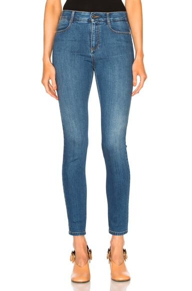 Stella McCartney High Waist Skinny in Dark Classic Blue