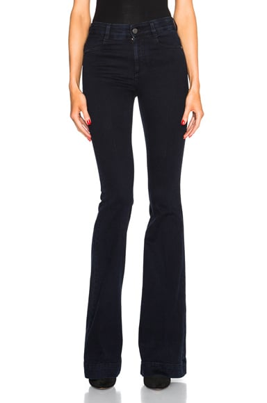 Stella McCartney 70s Flare Jeans in Blue Black