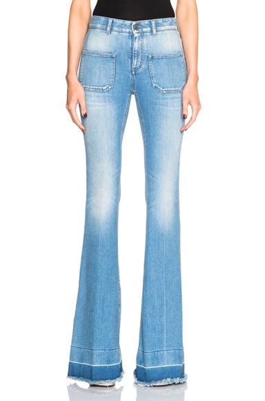 Stella McCartney Flare Jeans in Light Blue