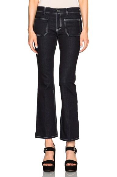 Stella McCartney Contrast Stitch Jeans in Blue