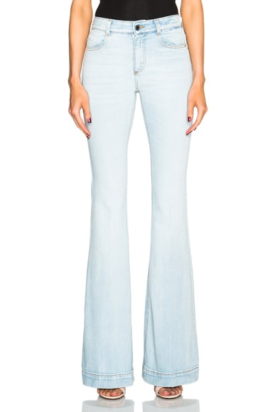 Stella McCartney 70s Flare Jeans in Sun Faded Blue