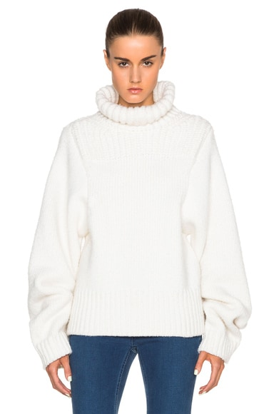 Stella McCartney Turtleneck Jumper in Winter White