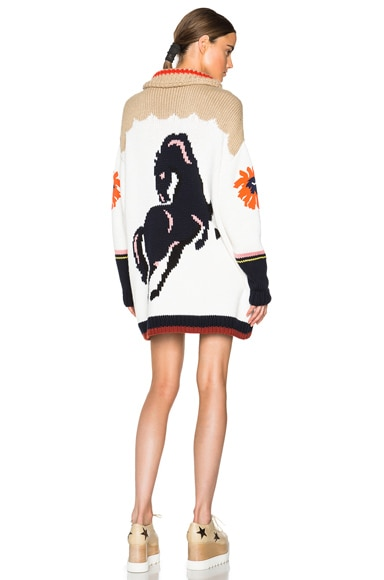Stella McCartney Heavy Horse Intarsia Cardigan in Multi