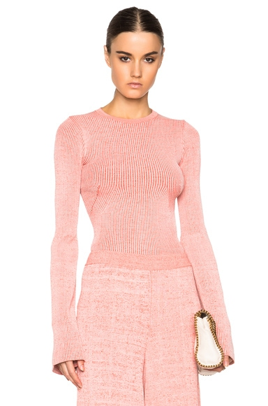 Stella McCartney Ribs Jumper in Mist, Poppy & Blush