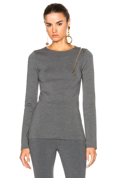 Stella McCartney Strong Lines Sweater in Granite