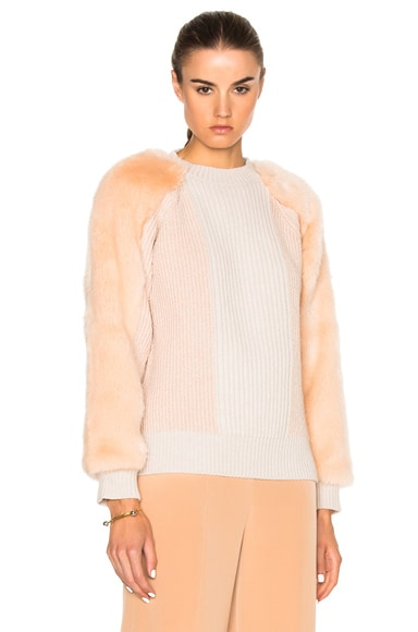 Stella McCartney Fur Jumper in Rose