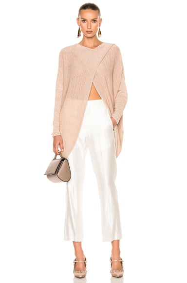 Stella McCartney Textured Tape Sweater in Powder