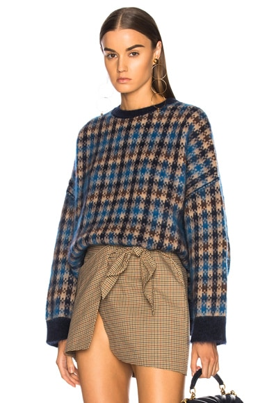 Oversized Check Sweater