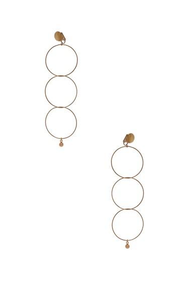 Brass Drop Earrings Stella McCartney
