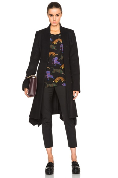 Stella McCartney Flore Coat in Black