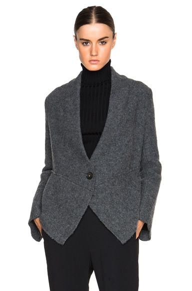 Stella McCartney Boiled Extensions Jacket in Grey Melange