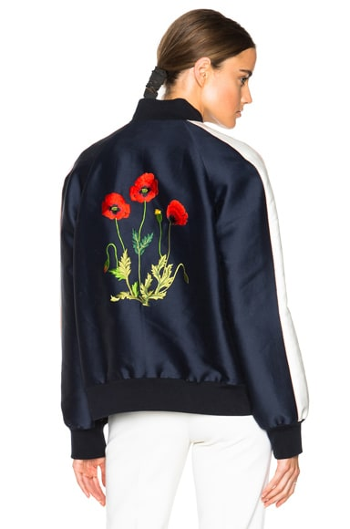 Stella McCartney Lorinda Botanical Embroidery Jacket in Ink