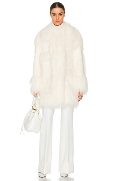 Stella McCartney Ramona Faux Fur Coat in White