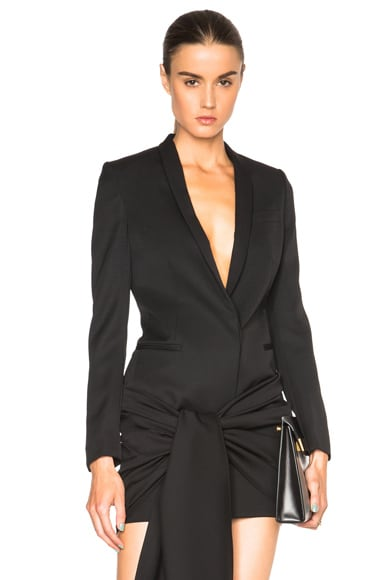 Stella McCartney Tuxedo Cloth Isla Jacket in Black