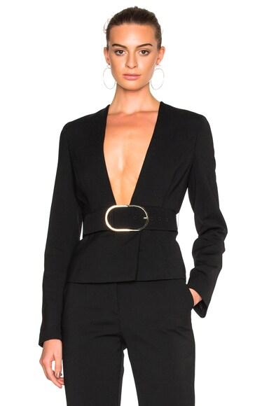 Stella McCartney Buckle Blazer in Black
