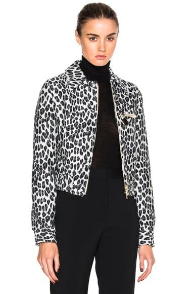 Stella McCartney Leopard Print Jacket in Stone