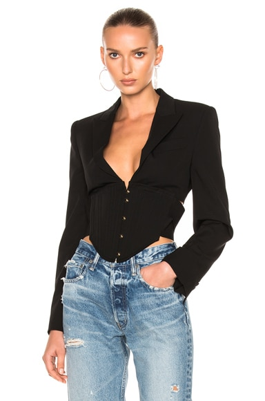 Stella McCartney Corset Blazer Jacket in Black