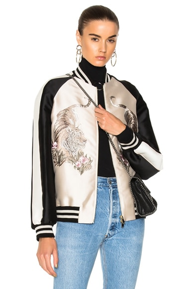 Lorinda Tiger Embroidered Jacket