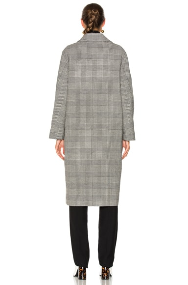 Flor Plaid Long Coat