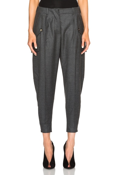 Stella McCartney Tess Sustain Cargo Trousers in Charcoal