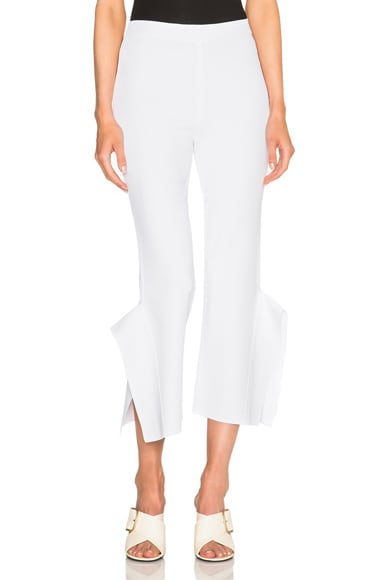 Stella McCartney Strong Shape Pants in Pure White