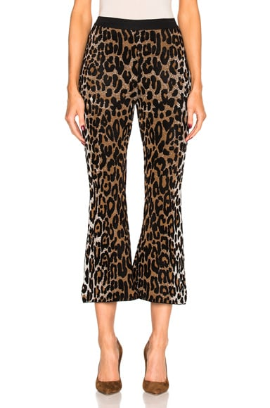 Stella McCartney Cheetah Trousers in Beige, Black & Havana