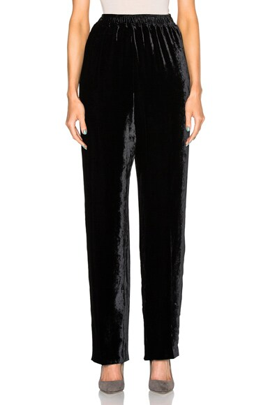 Stella McCartney Silk Mix Fluid Velvet Trousers in Black
