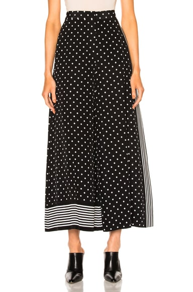 Silk Polka Dot Trousers