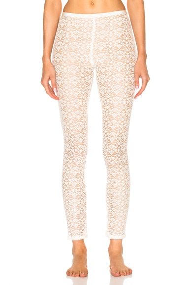 Stella McCartney Cotton Lace Leggings in Natural