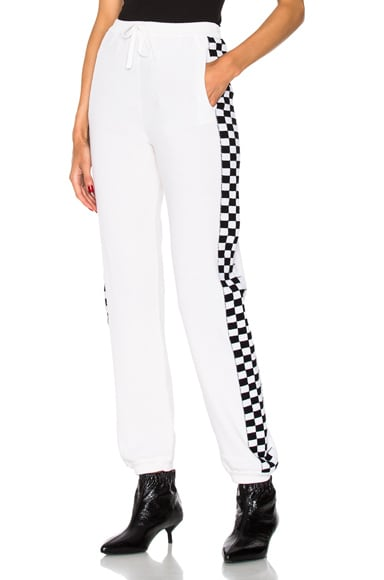 Checker Side Stripe Pants