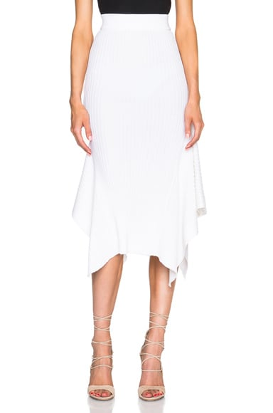 Stella McCartney Refined Ribs Skirt in Snow Drop