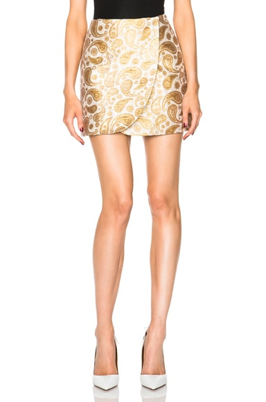 Stella McCartney Beth Skirt in Antique Gold