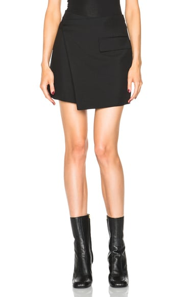 Stella McCartney Wrap Mini Skirt in Black