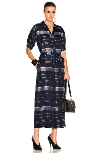 Satin Stripe Jumpsuit Stella McCartney