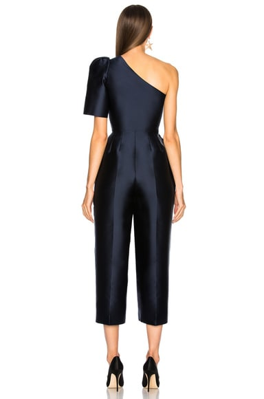 Kallie Silk Mix One Shoulder Jumpsuit