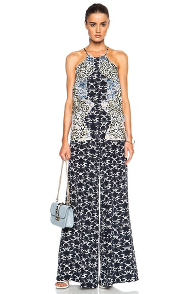 Stella McCartney Halter Printed Jumpsuit in Navy
