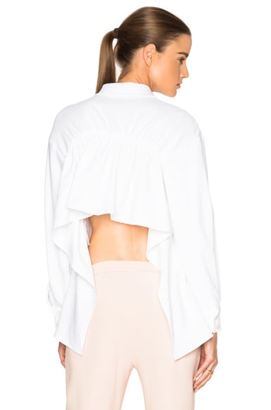 Stella McCartney Lucas Shirt in Pure White