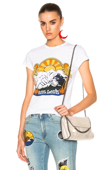 Stella McCartney One Love Surf Print T-Shirt in Pure White