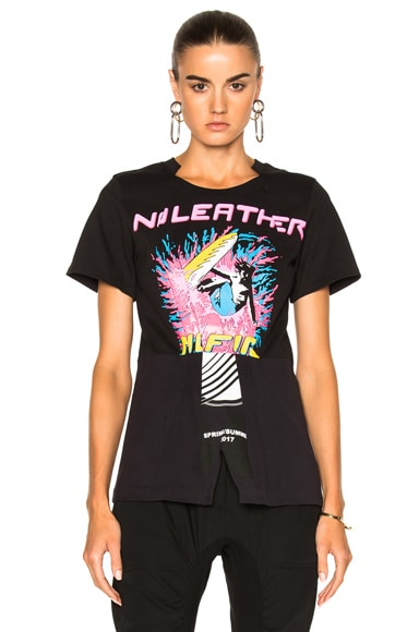 Stella McCartney Jersey No Leather Surf Print T-Shirt in Black